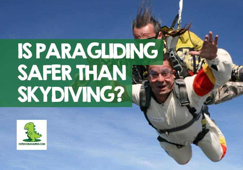 is paragliding safer than skydiving